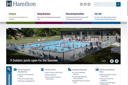 City of Hamilton website